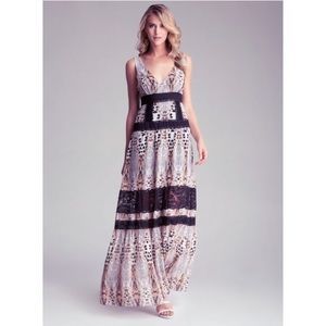 Bebe leopard and lace maxi dress